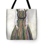 Portrait Of Edith Schiele, The Artists Tote Bag