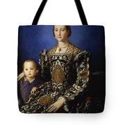 Portrait Of Eleanor Of Toledo With Her Son Giovanni De' Medici Tote Bag