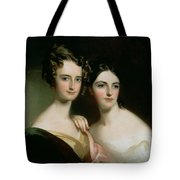 Portrait Of Ellen And Mary Mcilvaine, 1834 Oil On Canvas Tote Bag