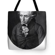 Portrait Of Emmanuel Kant  Tote Bag by German School