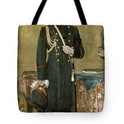 Portrait Of Emperor Nicholas II 1868-1918 1895 Oil On Canvas Tote Bag