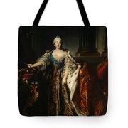 Portrait Of Empress Elizabeth, 1758 Oil On Canvas Tote Bag
