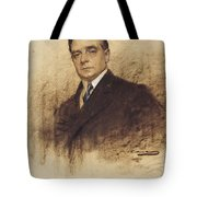 Portrait Of Enric Borras Tote Bag