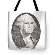 Portrait Of George Washington On White Background Tote Bag