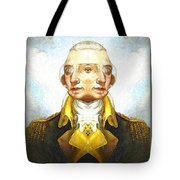 Portrait-of-george Washington Vert  2  Tote Bag
