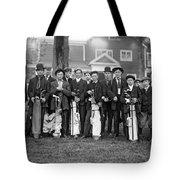 Portrait Of Golf Caddies Tote Bag