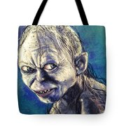 Portrait Of Gollum Tote Bag