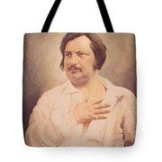 Portrait Of Honore De Balzac Tote Bag