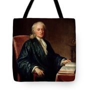 Portrait Of Isaac Newton Tote Bag