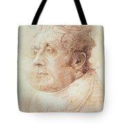 Portrait Of Jmw Turner Tote Bag by Cornelius Varley