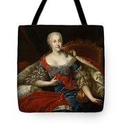 Portrait Of Johanna-elizabeth, Electress Of Anhalt-zerbst, C.1746 Oil On Canvas Tote Bag