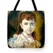 Portrait Of Little Girl Tote Bag