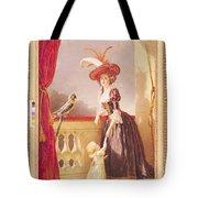 Portrait Of Louise-elisabeth De France 1727-59 Duchess Of Parma And Her Son Ferdinand 1751-1802 Tote Bag