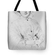 Portrait Of Madame Ingres Tote Bag