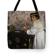 Portrait Of Mademoiselle Hortense Valpincon Tote Bag