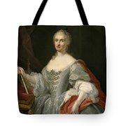Portrait Of Maria Amalia Of Saxony As Queen Of Naples Overlooking The Neapolitan Crown Tote Bag