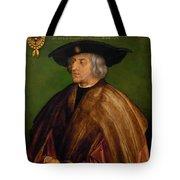 Portrait Of Maximilian I Tote Bag