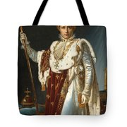 Portrait Of Napoleon In Coronation Robes Tote Bag