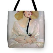 Portrait Of Raquel Meller Tote Bag by Joaquin Sorolla y Bastida