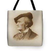 Portrait Of Richard Wagner German Tote Bag