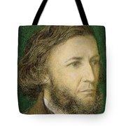 Portrait Of Robert Browning Tote Bag