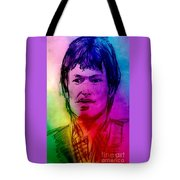 Rainbow Portrait Of Stevie Winwood Tote Bag