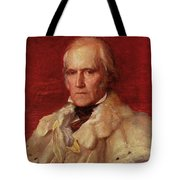 Portrait Of Stratford Canning 1786-1880, Viscount Stratford De Redcliffe 1856-7 Oil On Canvas Tote Bag