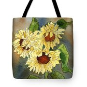 Portrait Of Sunflowers Tote Bag