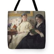 Portrait Of The Artist S Mother And Sister Tote Bag
