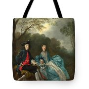 Portrait Of The Artist With His Wife And Daughter Tote Bag
