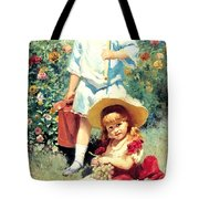 Portrait Of The Artists Children Tote Bag