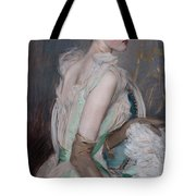 Portrait Of The Countess De Leusse Tote Bag