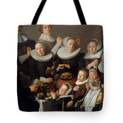 Portrait Of The Painter Andries Van Bochoven And His Family Tote Bag