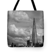 Portrait Of The Shard Black And White Version Tote Bag