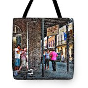 Portrait Of The Street Musician Sketch  Tote Bag