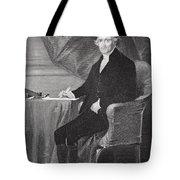 Portrait Of Thomas Jefferson Tote Bag