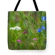 Portrait Of Wildflowers Tote Bag