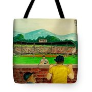 Portsmouth Athletics Vs Muncie Reds 1948 Tote Bag