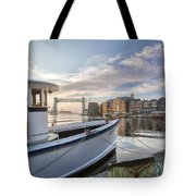 Portsmouth Harbor Sunrise Tote Bag by Eric Gendron
