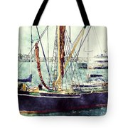 Portsmouth Harbour Boats Tote Bag