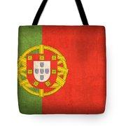 Portugal Flag Vintage Distressed Finish Tote Bag