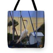 Posing Egret Tote Bag
