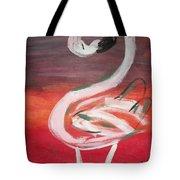 Posing Flamingo Tote Bag