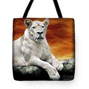 Posing Lioness Tote Bag
