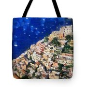 Positano Town In Italy Tote Bag