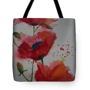 Positively Poppies Tote Bag