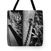Post And Chain Fence Tote Bag