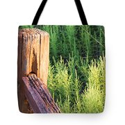 Post And Rail At Sunset Tote Bag