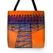 Post Apocalyptic Light Tower Tote Bag