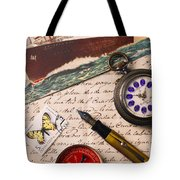Post Card And Letter Tote Bag